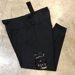 NWT BeBe Black on Black Plus Size Leggings
